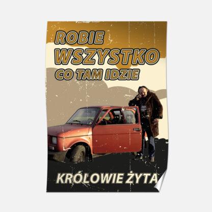 Plakat B2 Adam Mechanik kultowy tekst