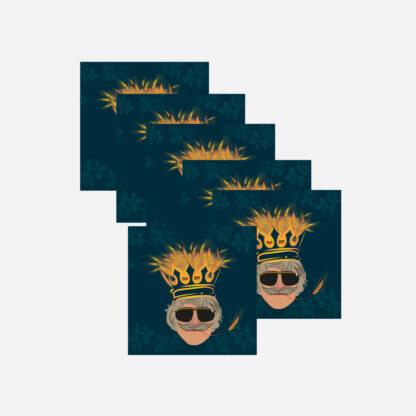 Zestaw magnesów Król Żyta piwo Królowie Żyta Kabaret Malina